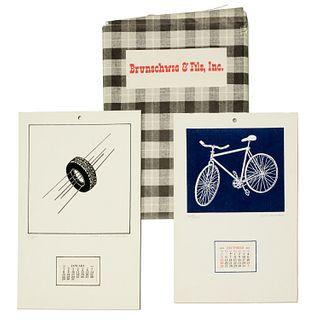 George Schneeman, (2) silkscreen wall calendars