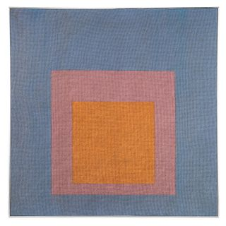 Josef Albers (after), large needlework tapestry