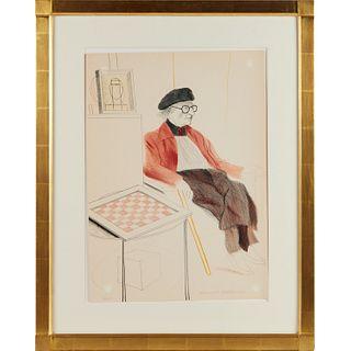 David Hockney, color lithograph, 1974