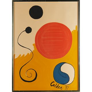 Alexander Calder, color lithograph, 1971