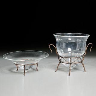 """Michael Graves, (2) Steuben """"Archaic"""" vessels"""