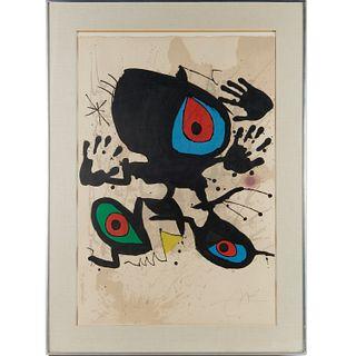 Joan Miro, color lithograph, 1973
