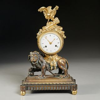 Angevin a Paris, Empire style mantel clock