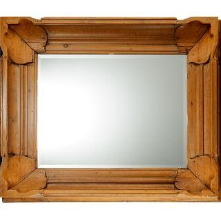 Parish-Hadley, English waxed pine mirror