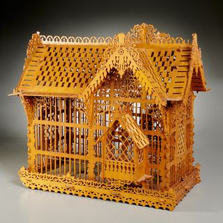 Victorian style aviary, sourced Parish-Hadley
