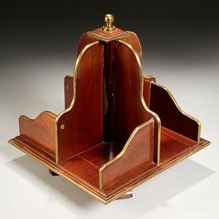 Regency style mahogany tabletop bookstand