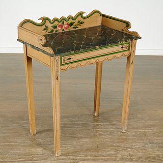 American Folk painted dressing table