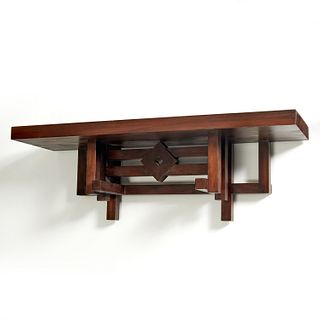 Parish-Hadley, custom mahogany wall mount console