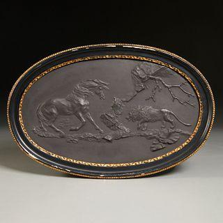 Wedgwood, black basalt plaque