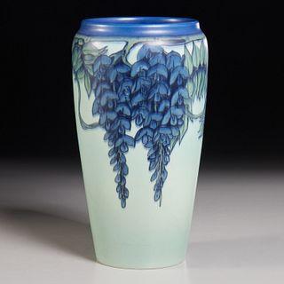 Rookwood, Ed Diers vellum Wisteria vase