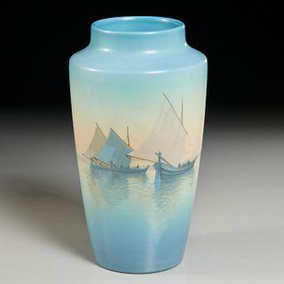 Rookwood, Marine Vellum vase, Carl Schmidt