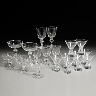 Steuben, (19) piece partial drink ware set
