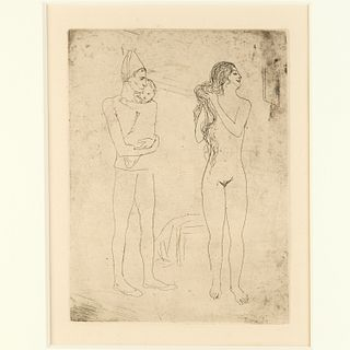 Pablo Picasso, etching, 1913