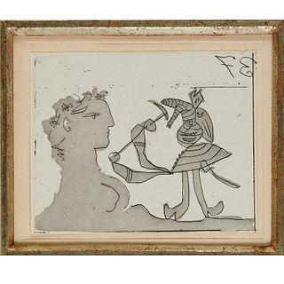 Picasso, Sueno y Mentira de Franco, etching