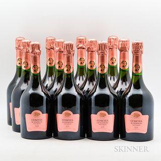 Taittinger Comtes de Champagne Rose 2005, 12 bottles