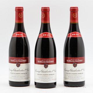 Harmand Geoffroy Gevrey Chambertin Lavaux St. Jacques 2010, 3 bottles