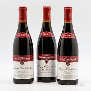 Harmand Geoffroy Mazis Chambertin 2007, 3 bottles