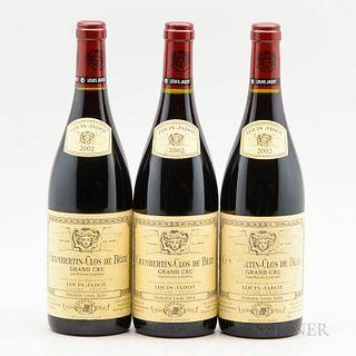 Louis Jadot Chambertin Clos de Beze 2002, 3 bottles