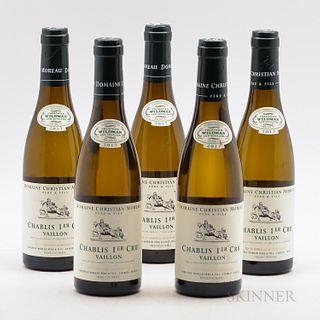 Christian Moreau Chablis Vaillon 2017, 5 demi bottles