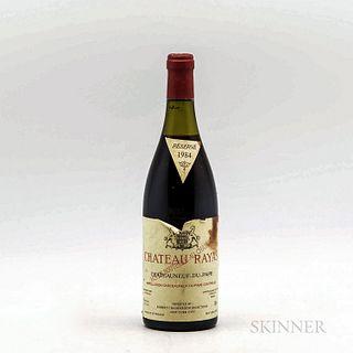 Chateau Rayas Chateauneuf du Pape Reserve 1984, 1 bottle