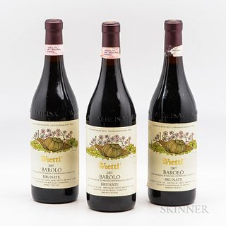 Vietti Barolo Brunate 2007, 3 bottles