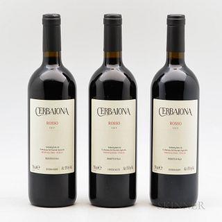 Cerbaiona (Molinari) Rosso di Montalcino NV, 3 bottles