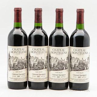Chateau Montelena Cabernet Sauvignon Estate 1987, 4 bottles