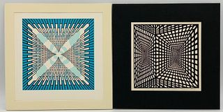"""Two Roy Ahlgren Serigraphs """" Infinity"""" and Another"""