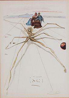 """Salvador Dali Lithograph """"Dante's Divine Comedy"""""""