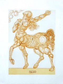 "Salvador Dalí Etching, ""Centaur"" from ""Divine Comedy"""