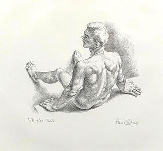 """Paul Cadmus Lithograph, """"Teddo"""""""