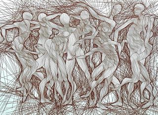 """Guillaume Azoulay Etching, """"Manipulation"""""""