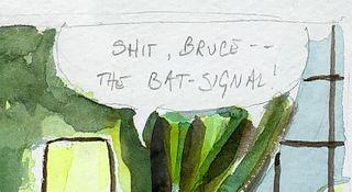 Mark Chamberlain, Watercolor, Queer Batman