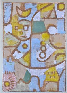 Silkscreen in the Manner of Paul Klee