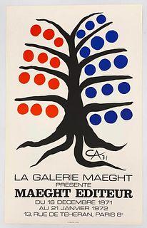 "Alexander Calder Lithograph, ""Maeght Editeur"""