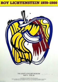 Pencil Signed Roy Lichtenstein Poster