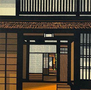 "Clifton Karhu Color Woodblock, ""Kurama Entrance"""