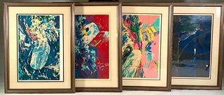 Leroy Neiman, Moby Dick Series, 4 Serigraphs