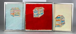 Leslie Miller,  House 1, 2 and 3, Mixed Media