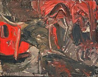 Elchanan Halpern Oil, Abstract Composition
