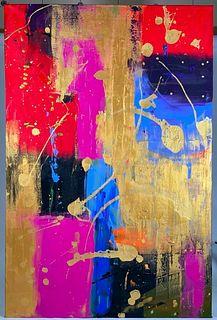 """Patti DiBenedetto Corna Acrylic and Oil, """"Circus Circus"""""""