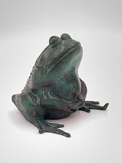 William McVey Bronze, Seated Frog