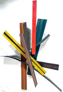 Heather Marcus Painted Sculptural Construction