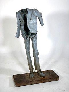 Galvanized Tin Empty Suit Figure