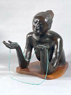 """R.C.Gorman Bronze """"Cocheta"""""""