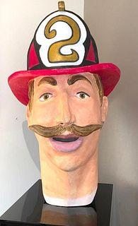 Doug Chess Oversize Head of a Fireman