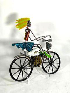 Kat Hogan and Jerome Ellis Sculpture, Girl on Bike