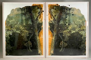 """Valerie Hammond Diptych, """"Southern Cross (A Constellation in the Southern Hemisphere)"""""""