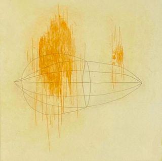 "E.Blaser Etching, ""4/4 Yellow Bile"""