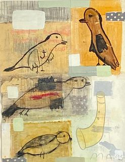 """Marty Ackley Mixed Media, """"Birds"""""""